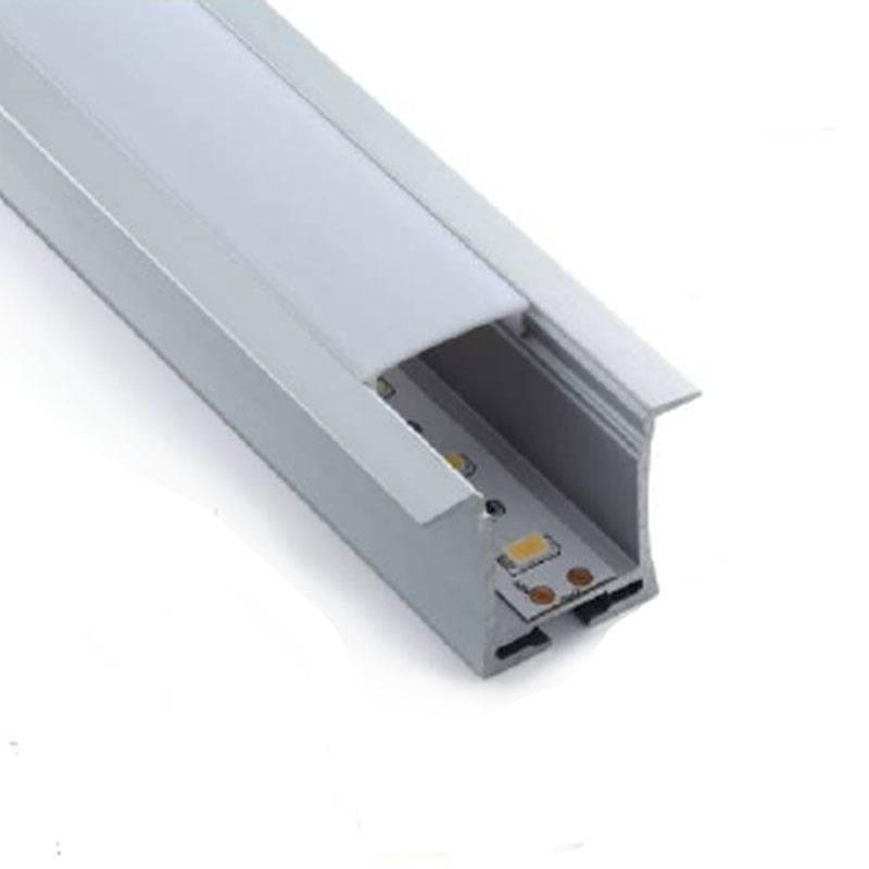 Perfil empotrado tira LED para pared y techo 36x28mm (2mt.)