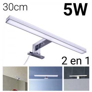 Aplique para espejos LED 30cm 5W | Fijación espejo y mueble