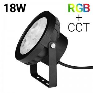 Foco proyector LED 18W RGB+CCT control por RF/WiFi - IP66