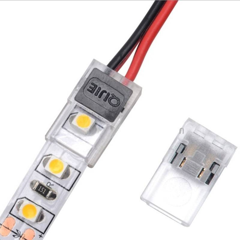 Conector rápido CLIP 2 pin - Tira a cable PCB 10mm IP20 máx. 24V