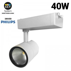 Foco proyector LED CCT 40W PHILIPS Driver 3600lm para carril monofásico