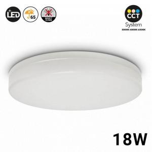 Plafón LED de superficie circular 18W