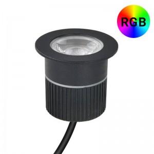 Baliza LED empotrable 9W RGB 12V-DC IP67