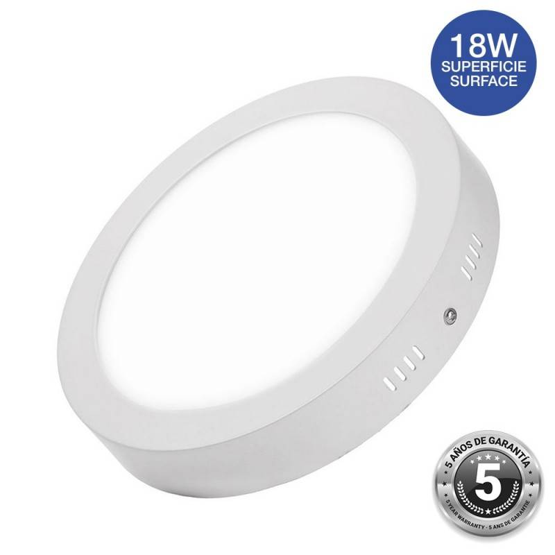 DOWNLIGHT LED DE SUPERFICIE CIRCULAR 18W