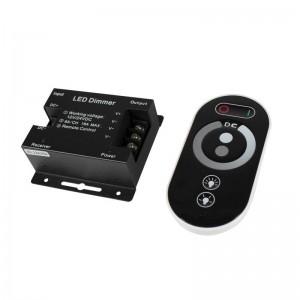 Regulador / dimmer con mando táctil RF para tira monocolor 12/24V 24A