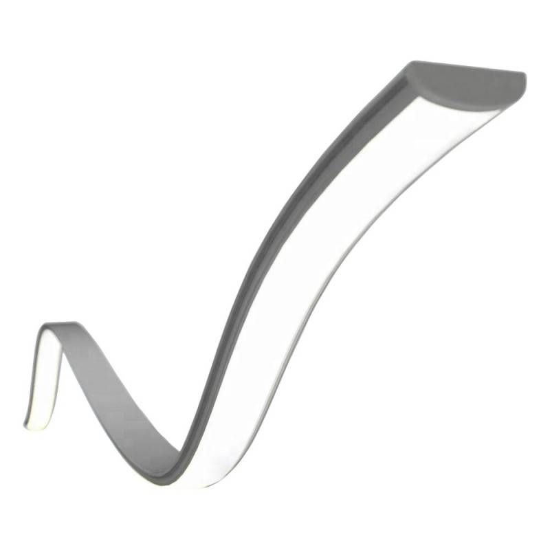 PERFIL DE ALUMINIO FLEXIBLE MOLDEABLE 16X8 DE SUPERFICIE (2MT)