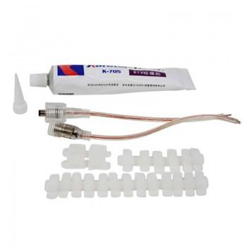 Conector para tiras LED 12V 8mm para esquinas 90º