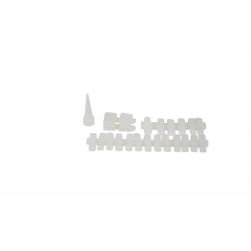 Conector para tiras LED 8mm para esquinas 90º