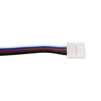 Conector para Tiras LED 12V RGB 10mm para esquinas 90º