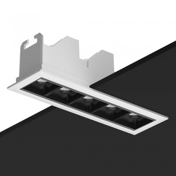 Downlight LED lineal empotrable 15W antideslumbrante UGR19