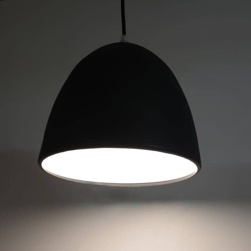Lámpara de Silicona Colgante Silicon Bell color Blanco