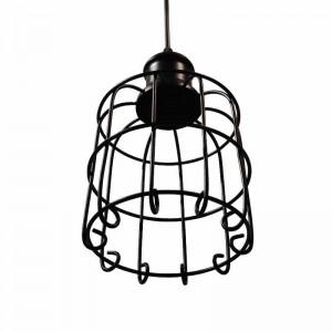 Lampara Vintage tipo jaula, Tarabilla Lamp colgante en negro