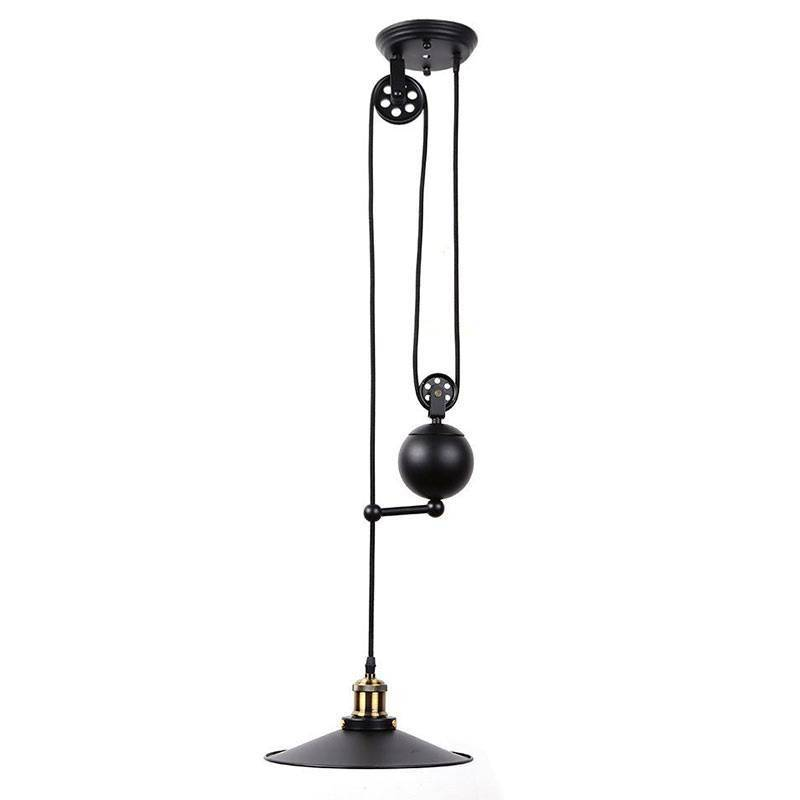 Lampara Vintage Clock Work con polea