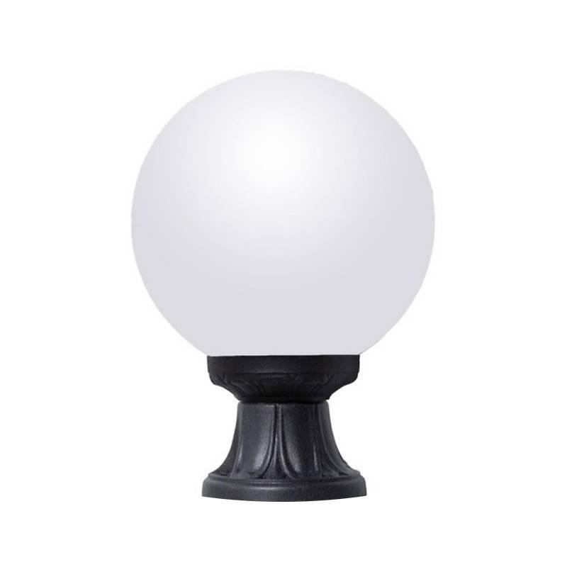 LAMPARA DE PIE GLOBO CRISTAL OPAL FUMAGALLI MIKROLOTG250 NEGRO CON PORTALAMPARAS E27