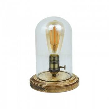 Lámpara de Mesa Tule de vidrio