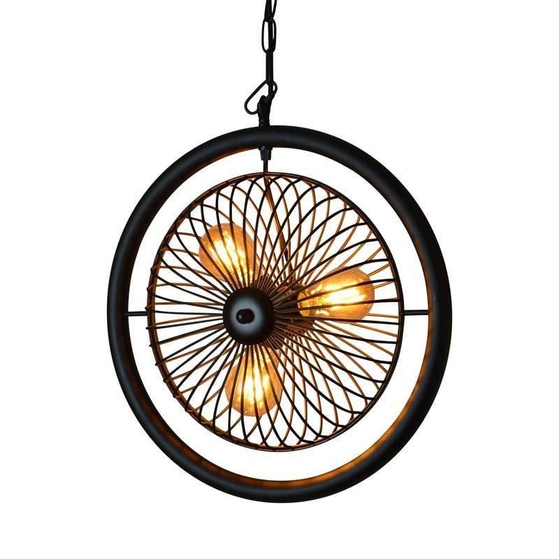 lampara forma ventilador vintage