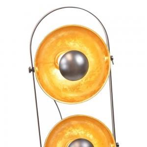 Lámpara vintage Copernico con tres Cabezales dorados E27