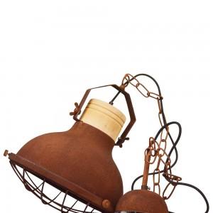 Lámpara colgante Niemey óxido vintage