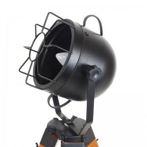 Lámpara vintage Tachicom con trípode de madera