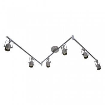 de lámpara móvil Comprar 6 GU10 metal para aplique bombillas techo f7gYy6b