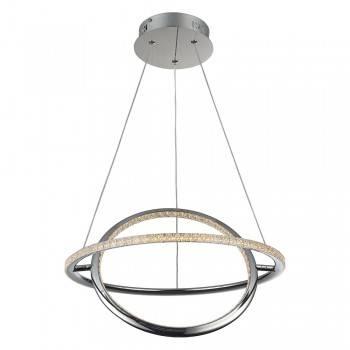 cromo LED circular colgante Comprar efecto cuarzo lámpara diamante 54RjAL3