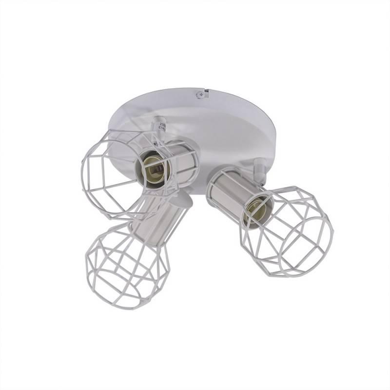 Lámpara de techo AZOR orientable de 3 puntos luz E14
