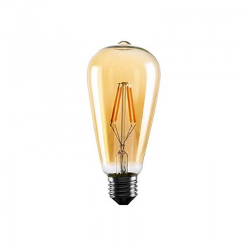 Bombilla LED de Filamento Vintage Edison ST64 4W gold