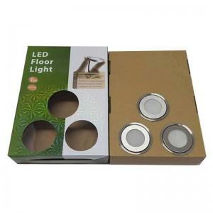 Kit Luces de suelo 6 balizas RGB Ø58x9mm