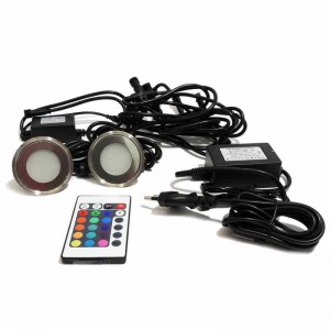 Kit Luces de suelo 6 balizas RGB Ø58x9mm