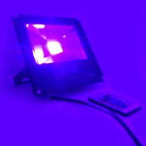 Foco proyector LED RGB 20W COB 230V-AC, CARCASA NEGRA,  IP65