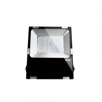 foco proyector LED 50W RGB+CCT Control WIFI IP65 85-260V 120º carcasa negra