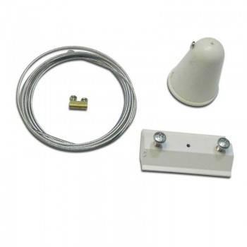 Kit de suspensión cable 1,5m para carril monofásico
