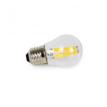 Bombilla Filamento Visto LED Clear G45 E27 4W