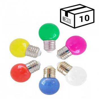 Bombilla LED E27 color 1w