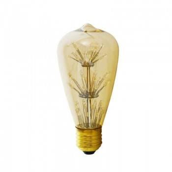 Bombilla LED Edison ST64 firework Gold