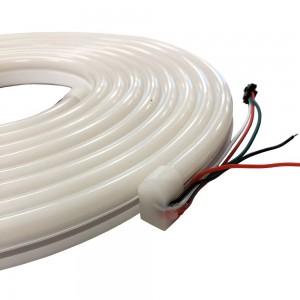 NEON FLEX RGB IC LED A 12V-DC 60CH/M SMD5050 ROLLO DE 5M IP67 ÁNGULO 120º