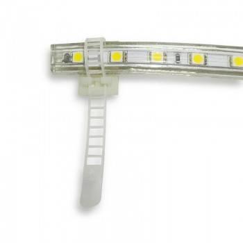 Brida plastica para Tiras LED con base adhesiva 3M