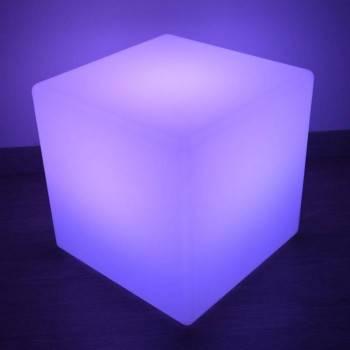 Mesita Cubo LED 40cm RGBW para exterior