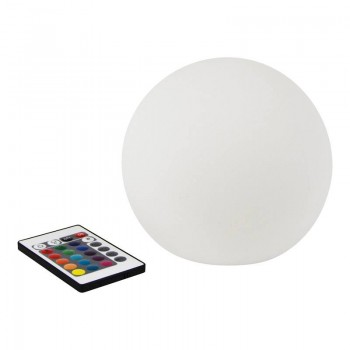 Lámpara esfera LED 15cm RGBW  Exterior recargable