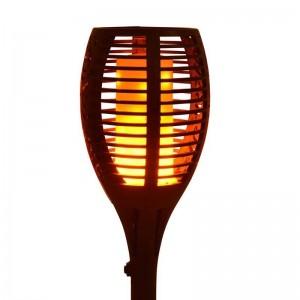 Antorcha solar LED con bombilla efecto fuego IP65