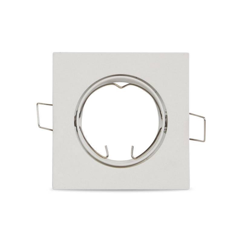 Aro empotrable cuadrado basculante de aluminio estándar