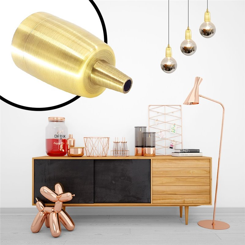 Cardan de acero para dos bombillas QR111 LED orientable y basculante 335x175/355x205mm color Gris