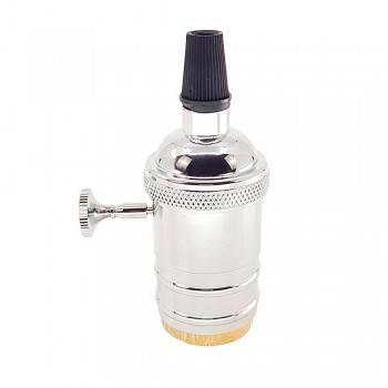 Casquillo E27 Vintage con interruptor Bronce Rosado / Cromado