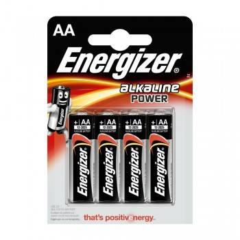 PILA ENERGIZER ALKALINA POWER LR6 (AA) BLISTER 4 Ud