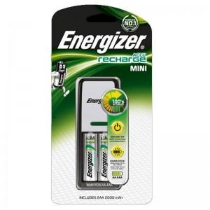 Cargador de Pilas Energizer 2 HR03 (AAA)  700mAh con 2 pilas incluidas