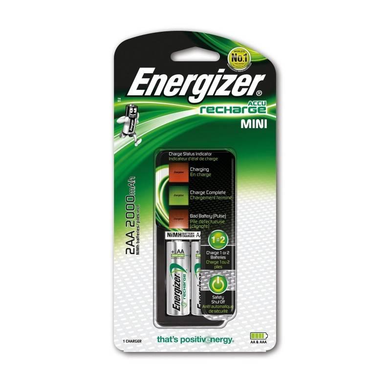 CARGADOR DE PILAS ENERGIZER 2 HR6 (AA) 2000mAh CON 2 PILAS AA INCLUIDAS