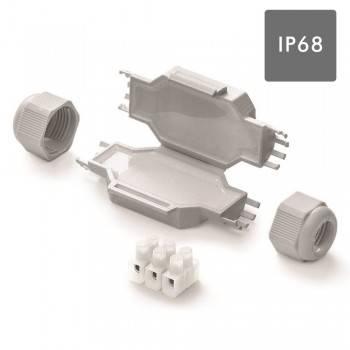 MINI TORPEDO ESTANCO CON GEL GEL IP68 Y REGLETA 3x2,5mm. BLISTER 1UND