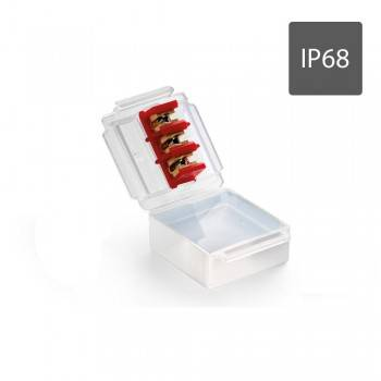 TORPEDO CONECTOR ESTANCO CON GEL AISLANTE IP68 INCLUYE CONECTORES PARA 3 CABLES 1 a 6mm2