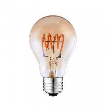 BOMBILLA LED SOFT FILAMENT ESPIRAL GOLD VINTAGE A60 E27 4W REGULABLE 2000K