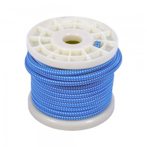 CABLE ELECTRICO ESTILO NORDICO 2X0,75 TEXTIL COLOR BLANCO Y AZUL